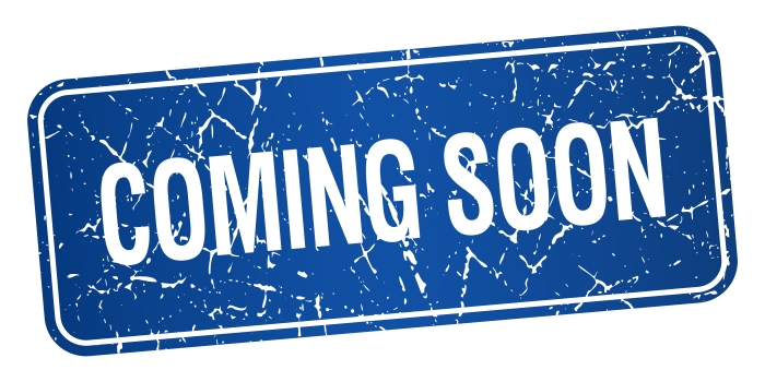 coming soon blue square grunge textured isolated stamp